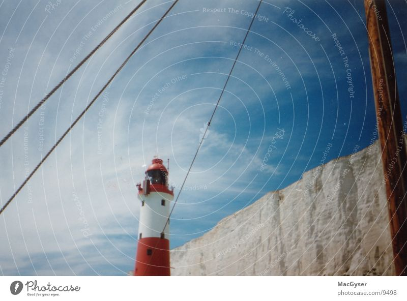 Leuchtturm Wasser Himmel Meer Wasserfahrzeug Architektur England Signal