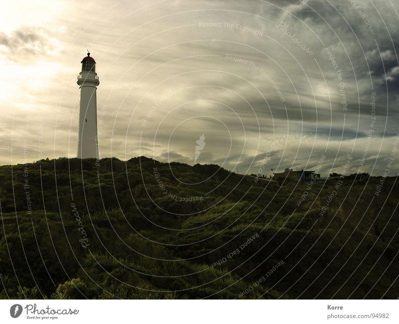 Der Turm am Meer VI Natur Himmel Meer Strand Wolken Freiheit Landschaft Küste Wind Romantik Turm Sehnsucht Amerika Stillleben Schifffahrt Leuchtturm