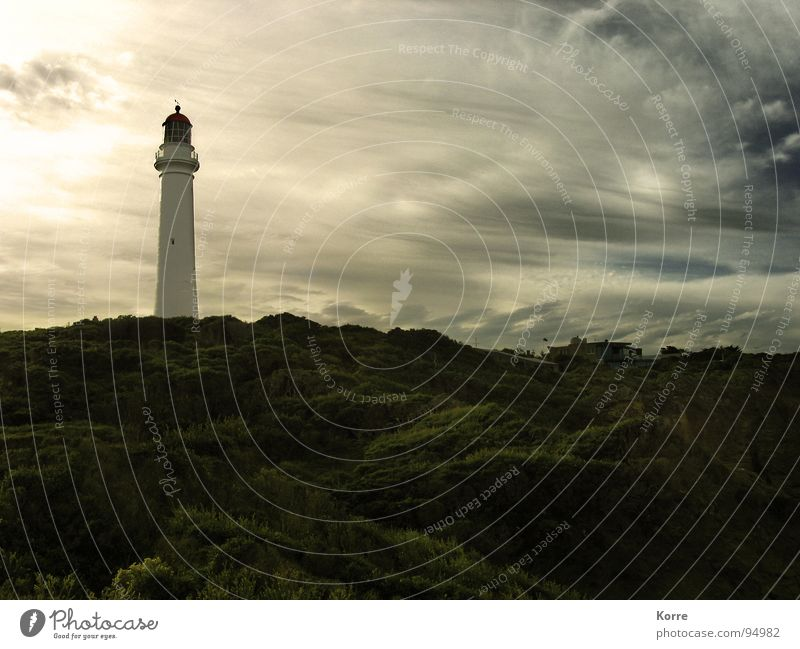 Der Turm am Meer VI Natur Himmel Strand Wolken Freiheit Landschaft Küste Wind Romantik Sehnsucht Amerika Stillleben Schifffahrt Leuchtturm