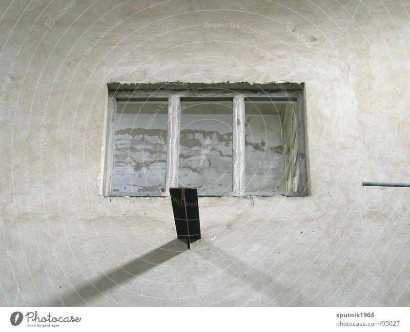 Fabrikfenster Fenster grau industriell Osten leer Industrie trist