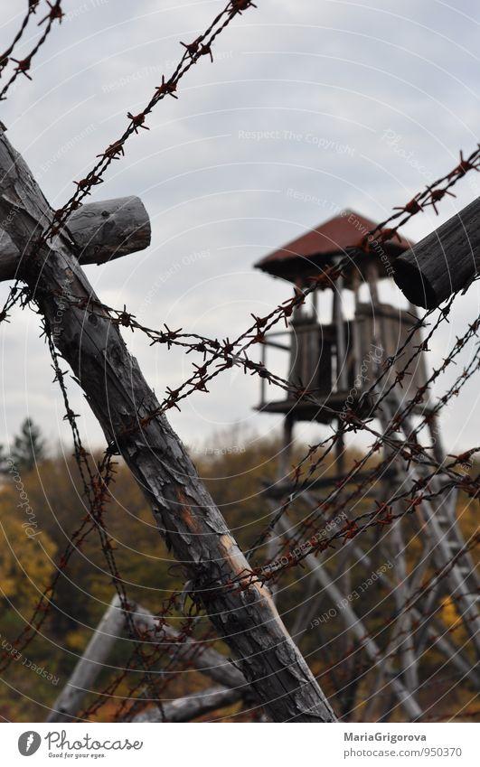 Landschaft Traurigkeit Herbst Tod Holz Metall Angst Stress Altstadt Nervosität Entsetzen