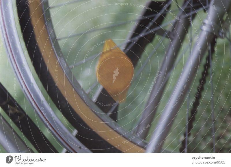 fahrradreifen Fahrrad Reflektor Dinge Speichen Nahaufnahme