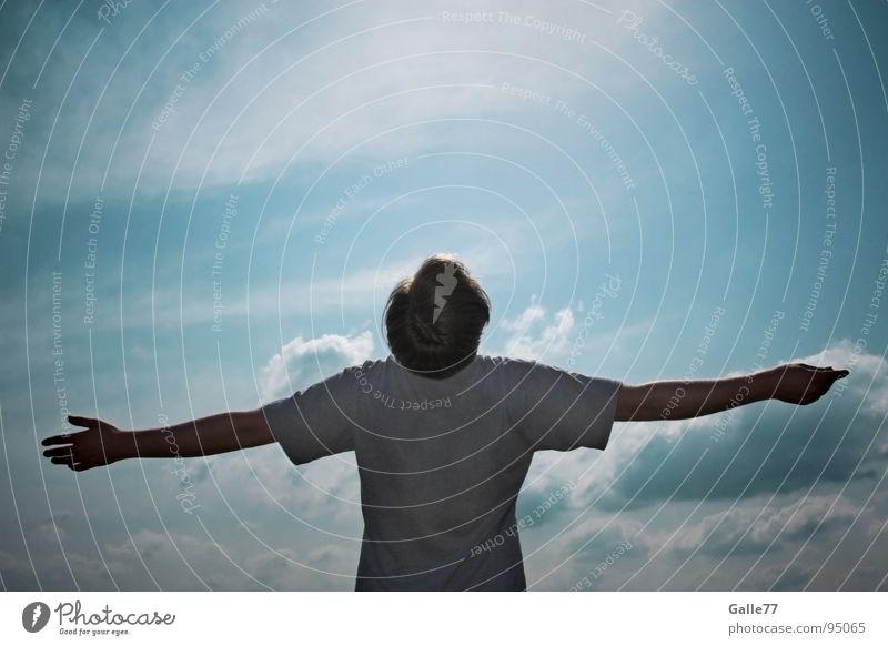 Himmlisch Freude Freiheit fliegen frei Energiewirtschaft Konzentration genießen atmen Schweben himmlisch ausbreiten tanken