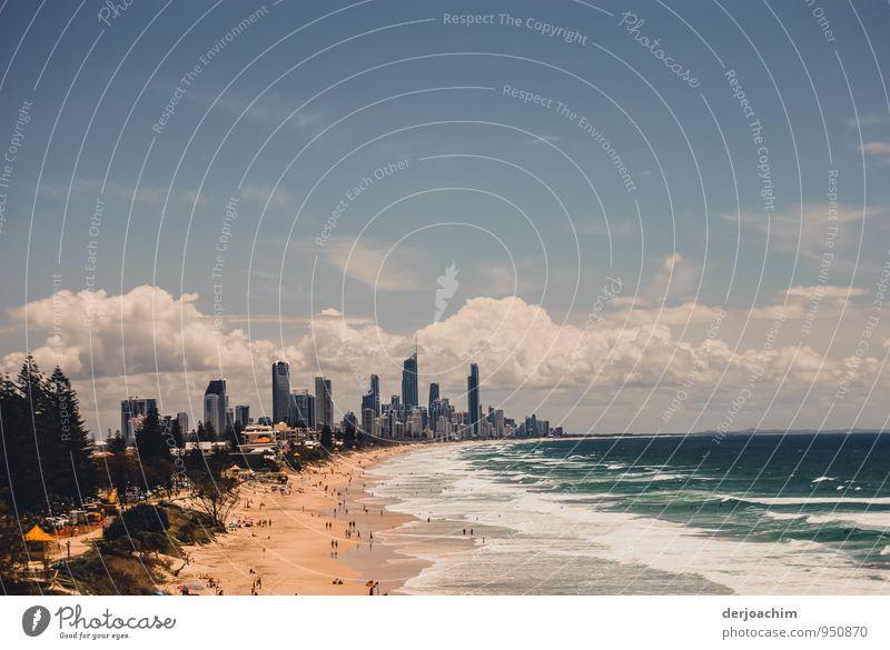 Paradise blau Stadt Wasser Sommer Sonne Meer Freude Strand Umwelt Stil außergewöhnlich Sand braun Zufriedenheit Beton genießen
