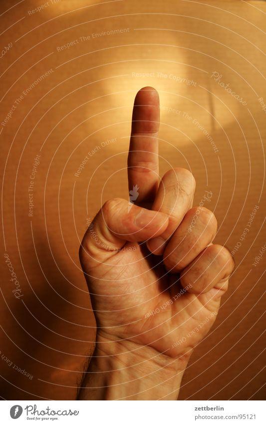 Eins Mensch 1 Finger Konzentration Wachsamkeit Respekt Daumen gestikulieren Faust zählen Zeigefinger Körperteile Mittelfinger Pflaume Ringfinger