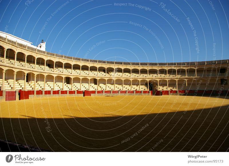 Plaza de Toros Stierkampf Spanien Andalusien Ronda Stierkampfarena Bulle Architektur Arena Kampfarena