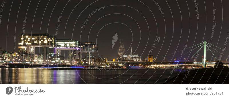 Kölle bei Nacht Stadt Leben Stimmung Lebensfreude Köln