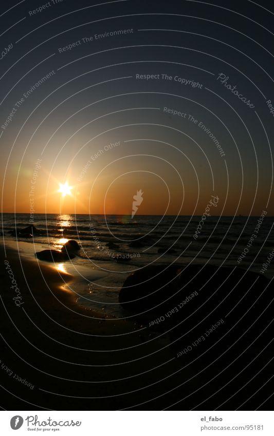 nicht schon wieder... Nordstrand dunkel Strand Küste Meer Ferien & Urlaub & Reisen Sonnenuntergang Romantik Wellen insel rügen Abend Ostsee
