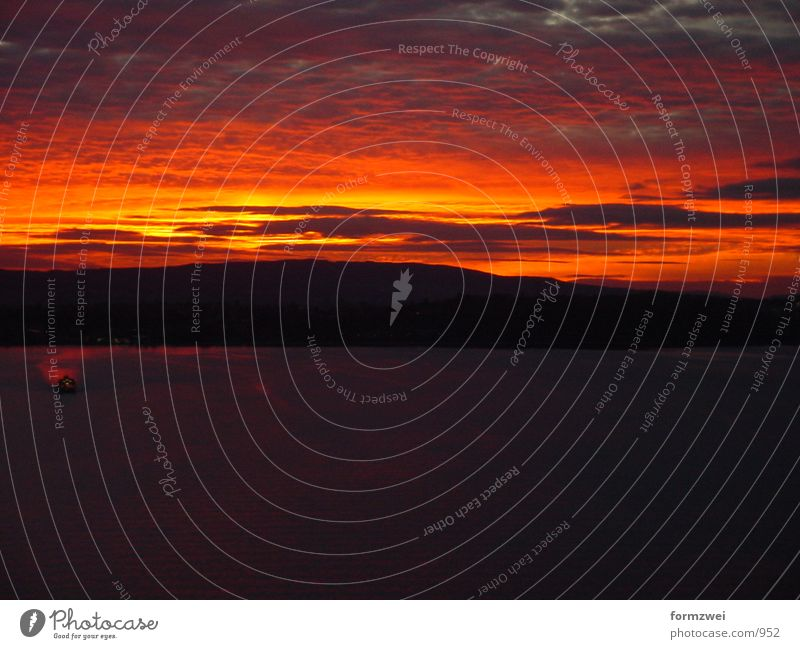 Sonneuntergang/Knallrot