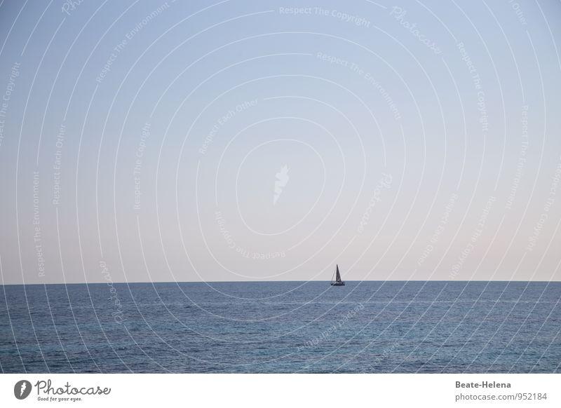 Ortsveränderungen Sport Segeln Natur Himmel Wolkenloser Himmel Sonnenaufgang Sonnenuntergang Sommer Schifffahrt Bootsfahrt Segelboot Wasserfahrzeug atmen