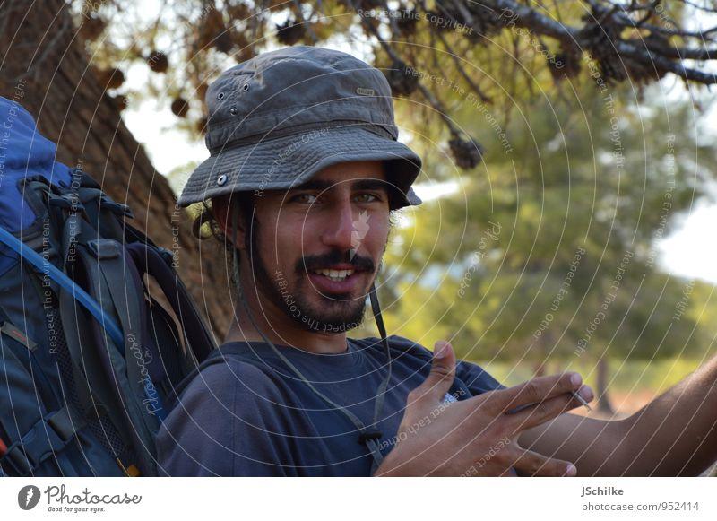 walking stop Freizeit & Hobby Ferien & Urlaub & Reisen Tourismus Ausflug Abenteuer Ferne Safari Expedition wandern maskulin Junger Mann Jugendliche 1 Mensch
