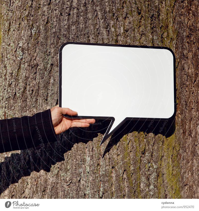 Sag's doch einfach Lifestyle Leben Mensch Umwelt Natur Baum Schilder & Markierungen Beginn Beratung Bildung Freiheit Idee innovativ Inspiration Kommunizieren