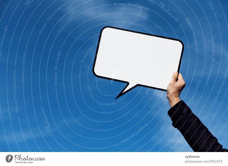 Redefreiheit Mensch Umwelt Leben Freiheit Lifestyle träumen Schilder & Markierungen Arme Beginn Textfreiraum Kommunizieren Kreativität Schönes Wetter