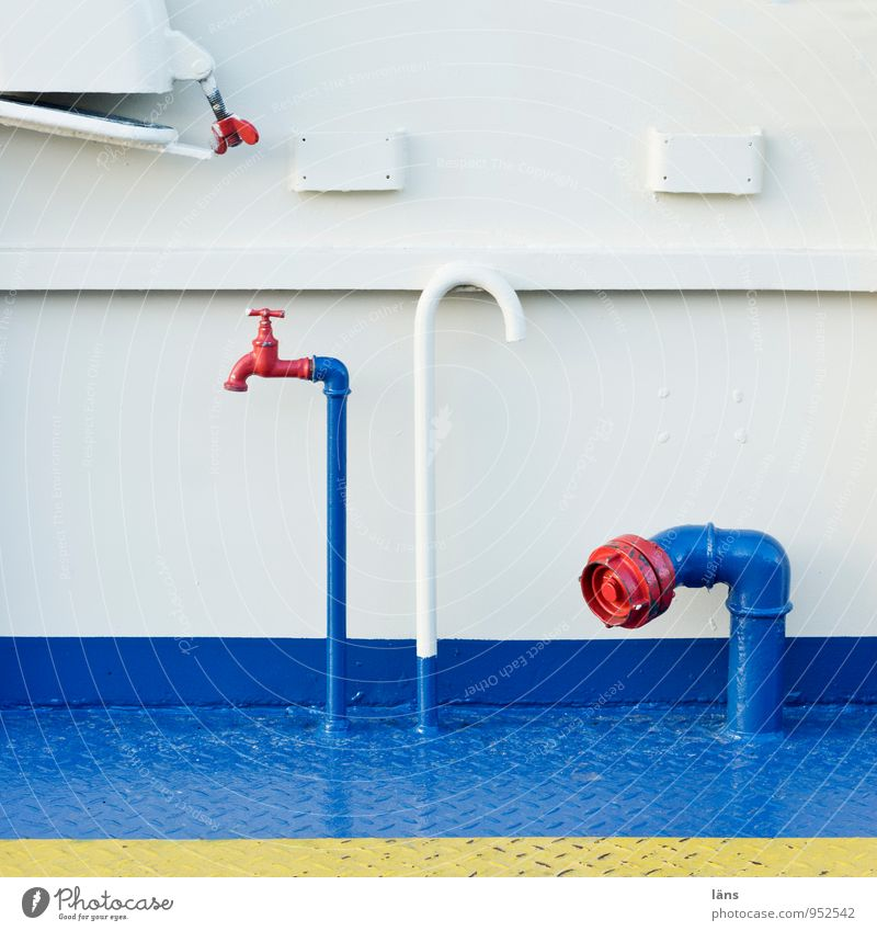 so oder so blau weiß rot außergewöhnlich einzigartig Röhren Schifffahrt Partnerschaft Rohrleitung Wasserhahn gekrümmt Bootsfahrt Binnenschifffahrt Ventil