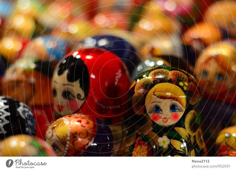 I'm the one... Spielzeug Puppe exotisch glänzend Glück retro rund mehrfarbig Matroschka Russisch Osteuropa Holz Holzpuppe Dose Unschärfe deko Farbfoto
