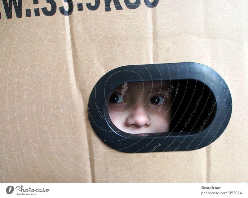 Vorsicht bestechlich! Mensch Kind Ferien & Urlaub & Reisen Freude schwarz Gesicht Auge Junge klein braun Kopf maskulin Kindheit warten Haut Schriftzeichen