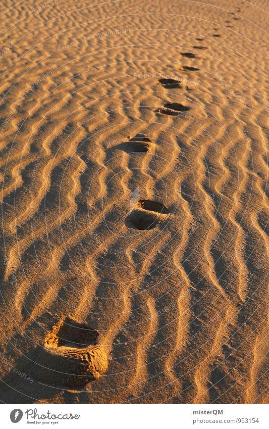 Sandlauf. ruhig Sand Kunst Idylle Zufriedenheit laufen ästhetisch viele Spuren Düne Stranddüne Fußspur Sandstrand spurenlesen Ruhepunkt