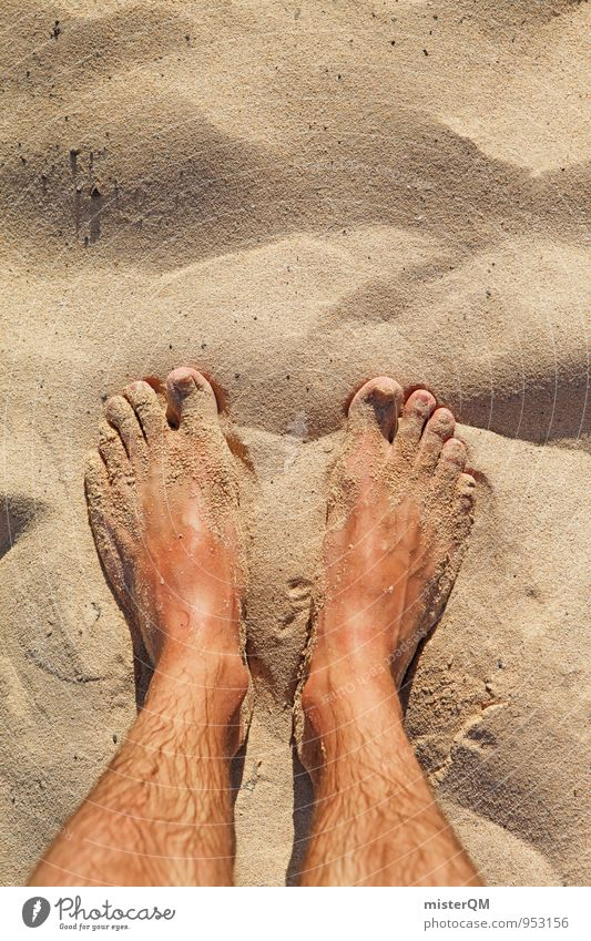 Zweisand. Sommer Erholung Einsamkeit ruhig Strand Sand Kunst Fuß Behaarung Idylle Zufriedenheit stehen ästhetisch Pause Düne Stranddüne