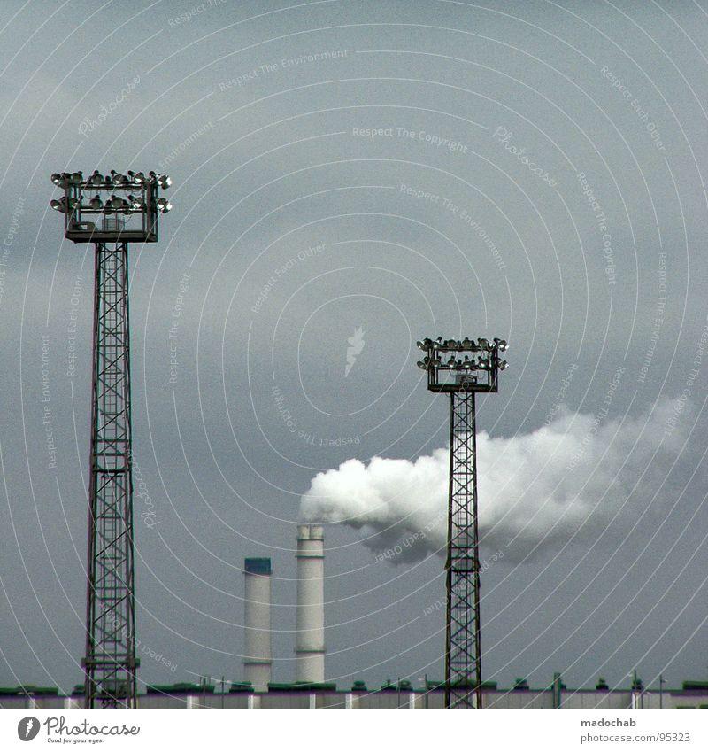 FOTOSAFARI - COLORS EVERYWHERE Himmel Umwelt Traurigkeit Arbeit & Erwerbstätigkeit Kraft dreckig Elektrizität trist Turm Industrie Trauer Vergänglichkeit Rauch