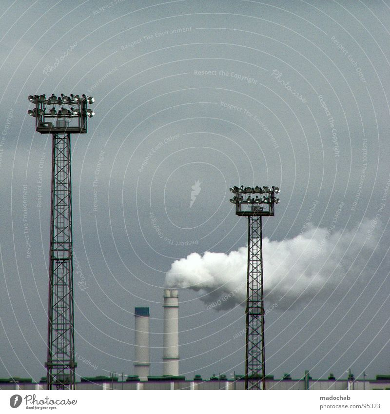 FOTOSAFARI - COLORS EVERYWHERE industriell Kraft Elektrizität Lautsprecher Megaphon Arbeit & Erwerbstätigkeit Umwelt Umweltverschmutzung trist Trauer Industrie