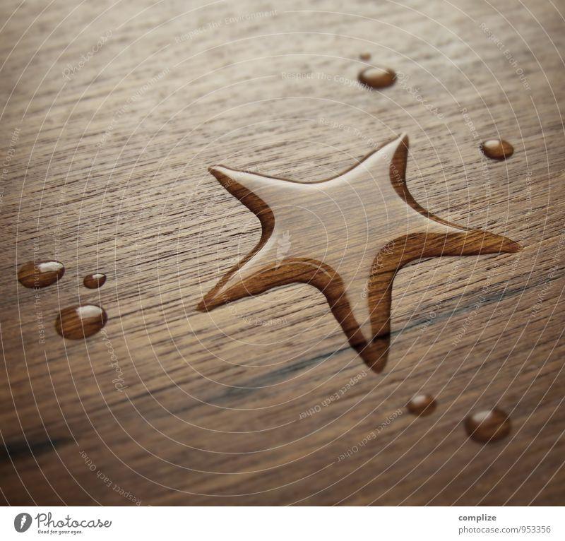 Stern* Weihnachten & Advent Wasser Stil Holz Feste & Feiern Schwimmen & Baden braun Design Tanzen Tisch Wassertropfen Trinkwasser Klima Stern (Symbol)
