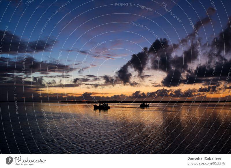 Boat trip Ferien & Urlaub & Reisen Wasser Sommer Sonne Meer Wolken Küste Wasserfahrzeug Horizont Freizeit & Hobby Tourismus Ausflug Abenteuer Romantik Seeufer