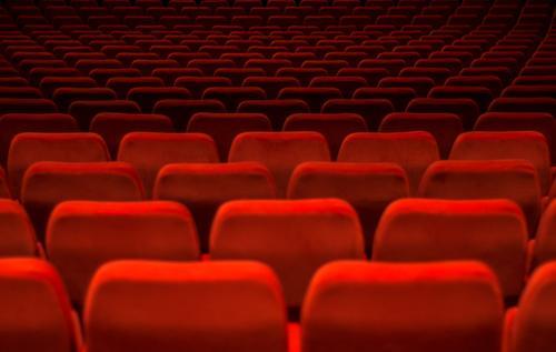 konform Freizeit & Hobby Veranstaltung Kino Filmindustrie Video außergewöhnlich rot Macht Einigkeit Kinosaal Sessel Kinosessel Saal Show Menschenmenge uniform