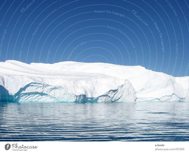 Cool Water II Grönland Ilulissat Eisberg Meer Himmel Berge u. Gebirge greenland grönland-diskobucht greenland-diskobay growler ocean Alm mountains sun sky