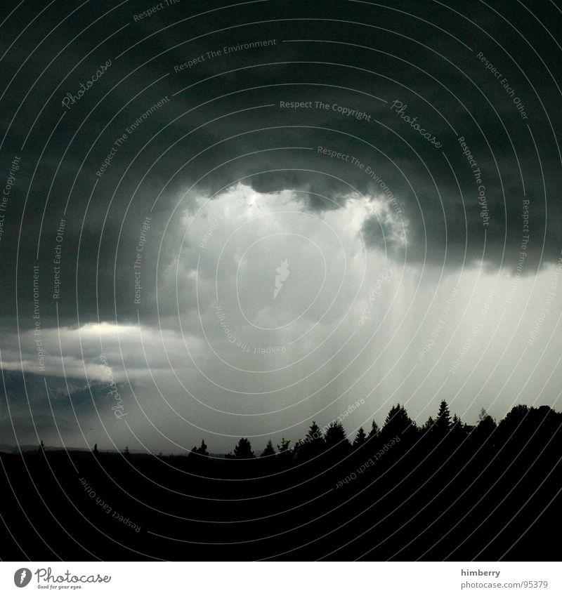 cloudburst ahead Wolken Unwetter Regen Sturm Gewitter Berge u. Gebirge Himmel Wetter Hagel Alpen