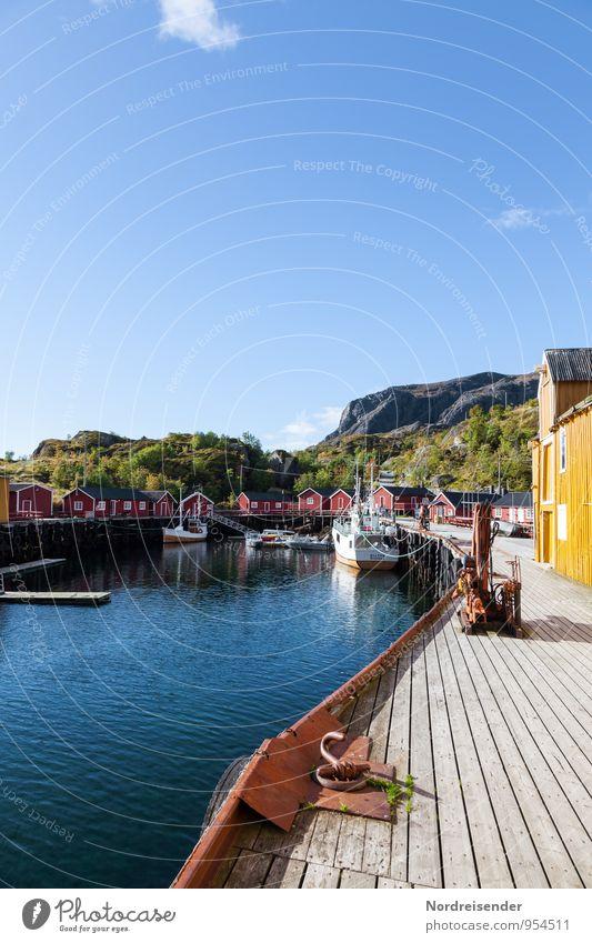Fischereihafen Himmel Ferien & Urlaub & Reisen Sommer Meer Haus Architektur Häusliches Leben Idylle Schönes Wetter einzigartig Freundlichkeit Romantik Hafen