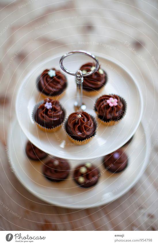 choc-o-late Ernährung süß lecker Süßwaren Kuchen Picknick Schokolade Dessert Cupcake Fingerfood Slowfood Etagere