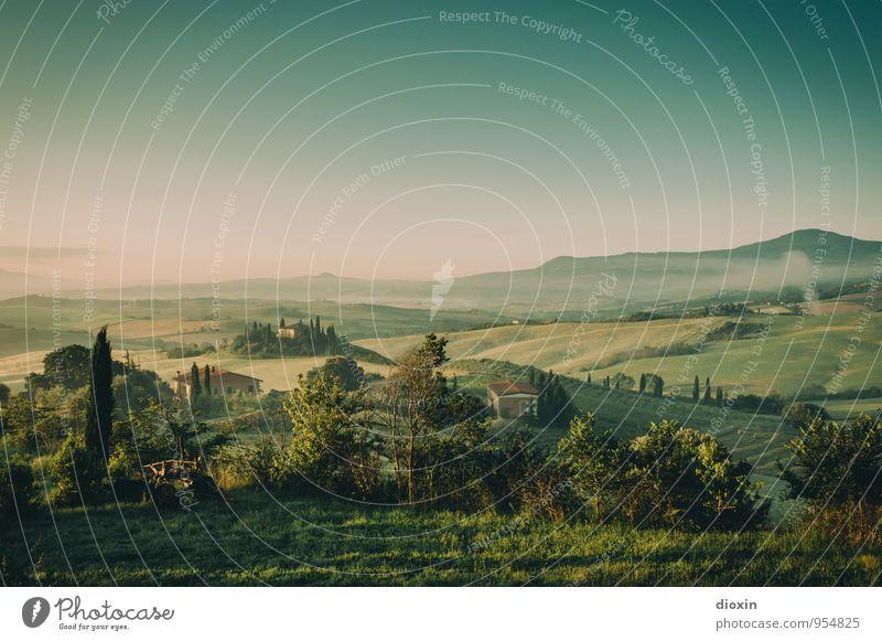 Tuscia {2} Himmel Natur Ferien & Urlaub & Reisen Pflanze Sommer Baum Erholung Landschaft ruhig Ferne Umwelt Gras natürlich Tourismus Ausflug Schönes Wetter