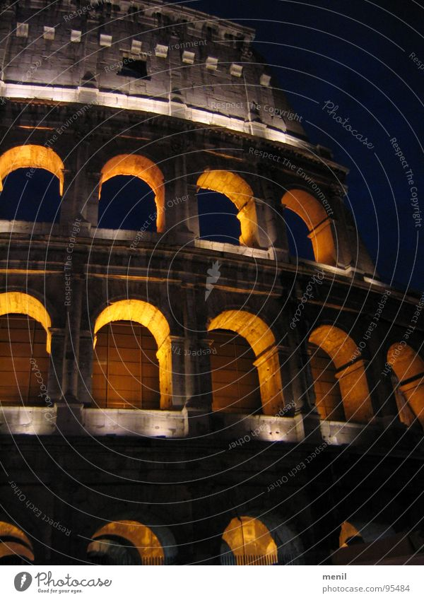 Arena Rom Denkmal Licht Ruine Italien Kunst Kolosseum Wahrzeichen Schatten alt Sehenswürdigkeit