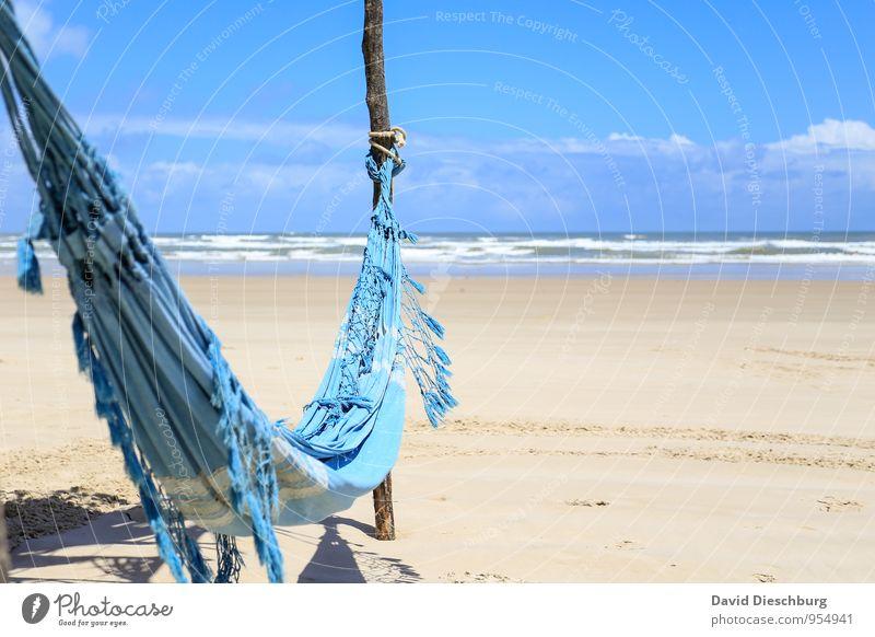Lieblingsplatz Himmel Ferien & Urlaub & Reisen blau weiß Wasser Sommer Sonne Erholung Meer Landschaft ruhig Wolken Strand Ferne gelb Küste