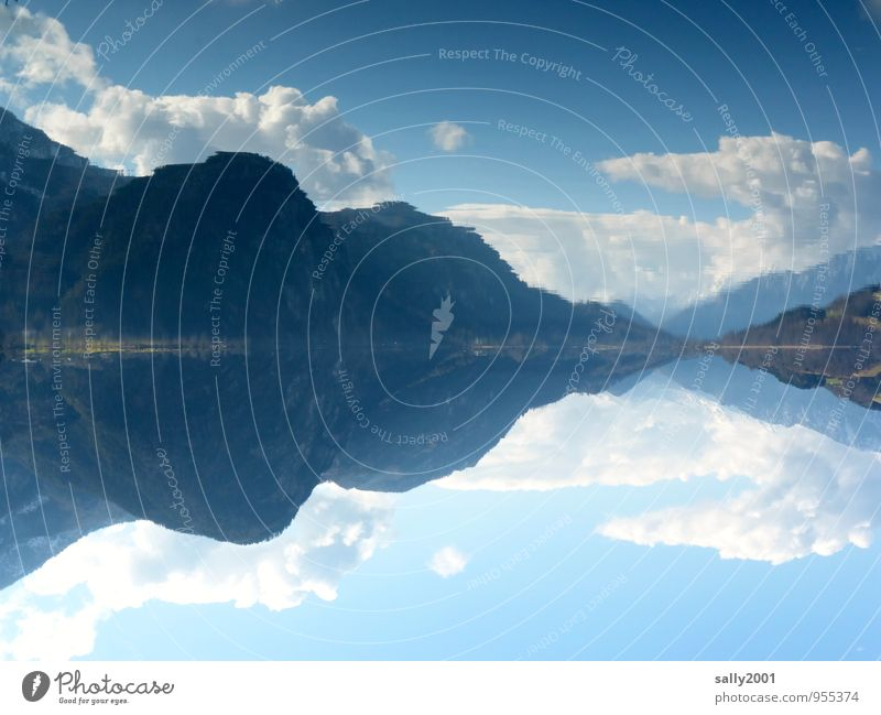 still ruht der See... Himmel Natur blau Erholung Einsamkeit Landschaft ruhig Wolken Wald Berge u. Gebirge Frühling Glück Freiheit außergewöhnlich Horizont