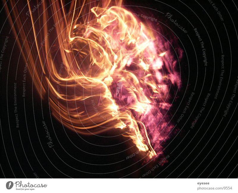 spiel mit dem feuer 5 rot Langzeitbelichtung Brand orange eyesee