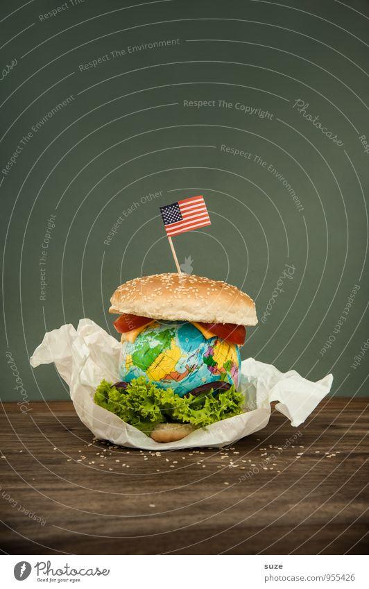 Big King XXL Lebensmittel Käse Salat Salatbeilage Ernährung Fastfood Lifestyle Übergewicht Erde Fahne Globus außergewöhnlich Unendlichkeit lecker Originalität