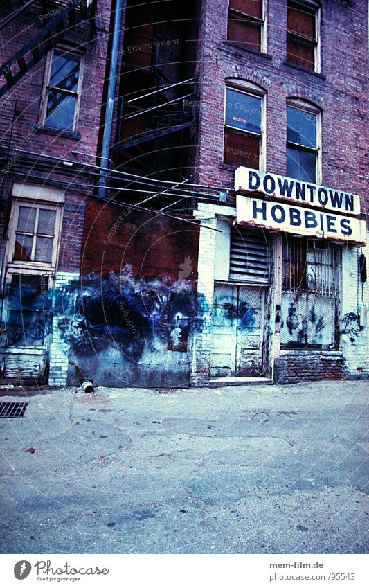 downtown hobbies Angst dreckig Freizeit & Hobby Müll Werbung trashig Stadtzentrum Panik New York City Hinterhof Ghetto Colorado Rückseite Seitenstraße Denver