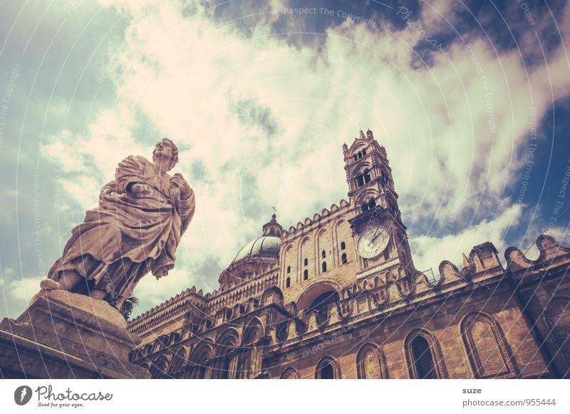 Kraft | durch Glauben Ferien & Urlaub & Reisen Stadt alt Architektur Gebäude Religion & Glaube Uhr ästhetisch Platz einzigartig Italien Kultur historisch