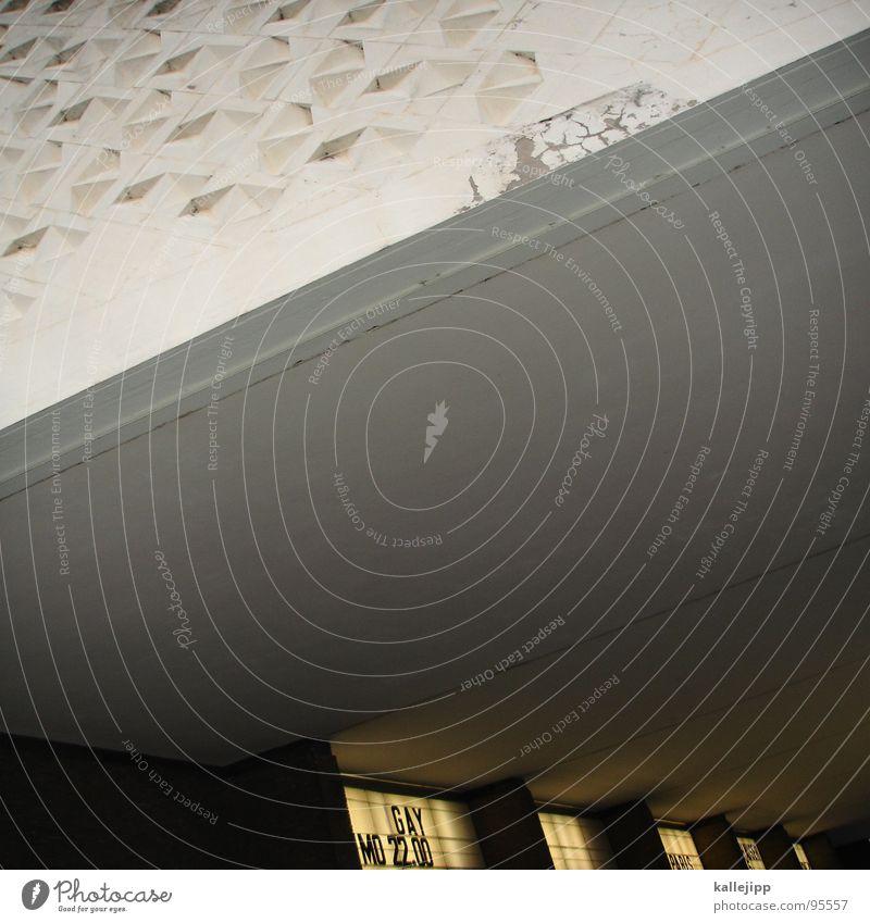 ONE GAY IN PARIS? Architektur Zeit Fassade Schilder & Markierungen Uhr Beginn Hotel historisch Teile u. Stücke Paris Schmuck Eingang DDR Kino Anzeige Plattenbau