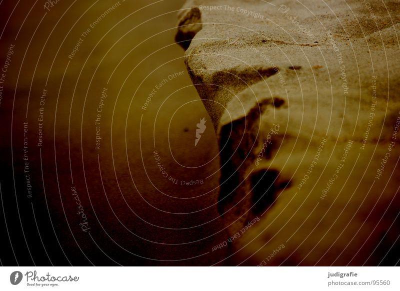Strandlandschaft spülen Meer fließen fein Vergänglichkeit Küste Sand ausgespült Ostsee Berge u. Gebirge Tal berg und tal Fluss Strukturen & Formen