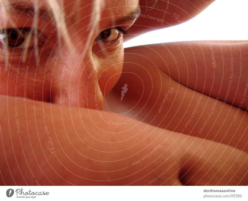 verführ mich Frau Mann Ferien & Urlaub & Reisen Gesicht Auge Haare & Frisuren Wärme braun Körper Zusammensein Mund Haut groß Nase Sicherheit Klarheit