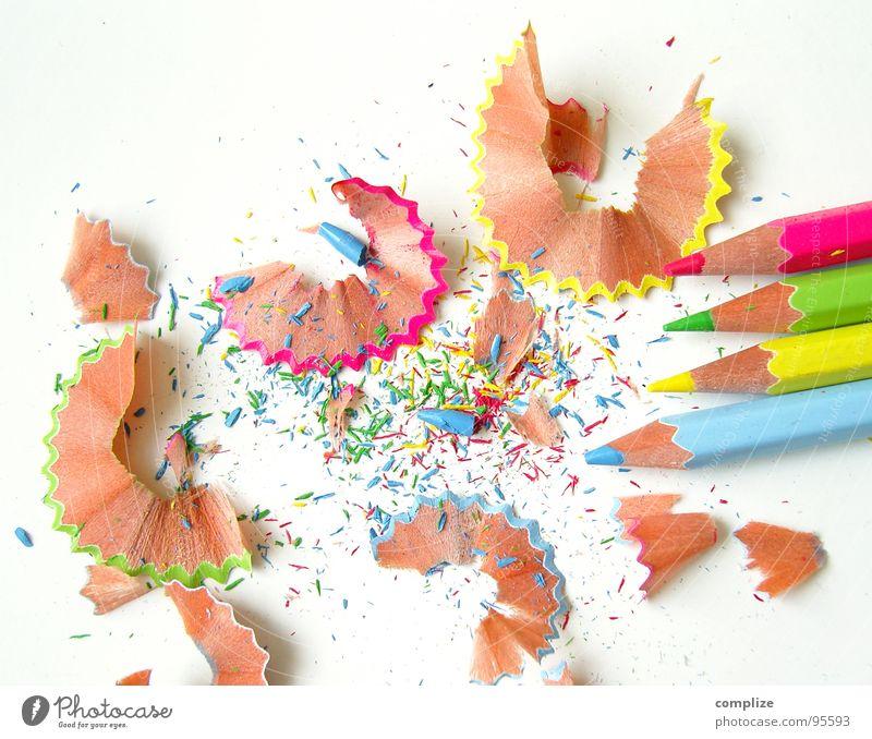 spitz again° grün blau gelb Farbe Kunst rosa dreckig Freizeit & Hobby Kindheit Spitze malen zeichnen Kreativität Schreibstift Verschiedenheit Rest