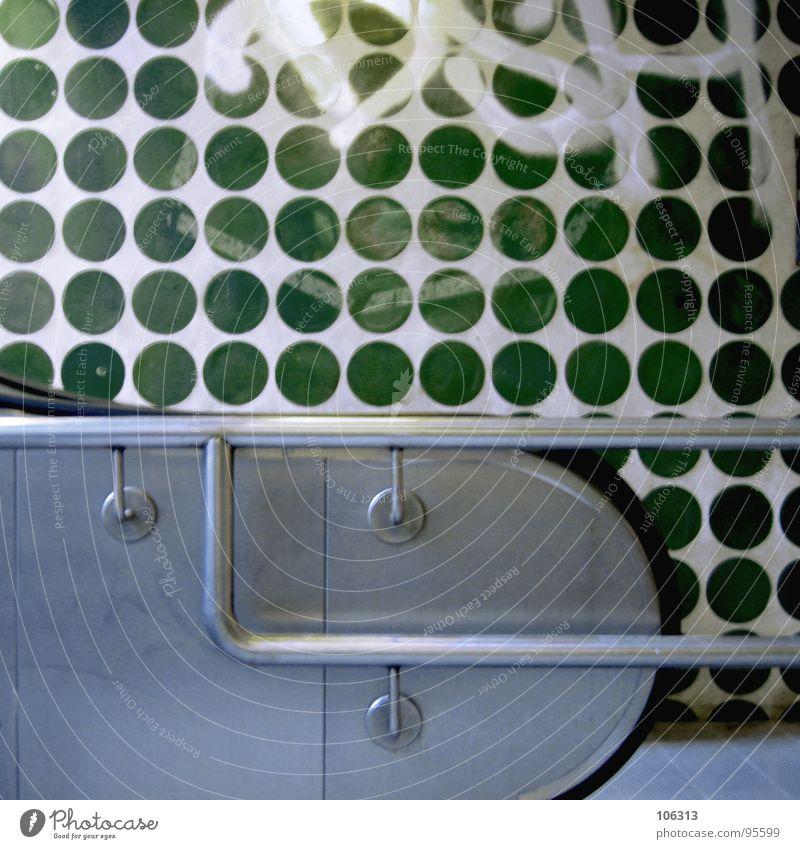 DER GRÜNE PUNKT alt weiß grün Stadt Farbe schwarz dunkel Graffiti Wand grau Mauer Stein Metall Deutschland gehen Treppe