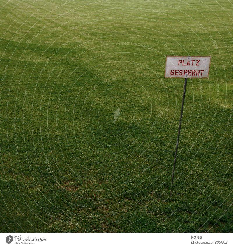 platz gesperrt grün Wiese Sport Spielen Gras Energiewirtschaft Rasen Spielfeld Tiefenschärfe Brandenburg Ballsport Cottbus Sportplatz Grünfläche