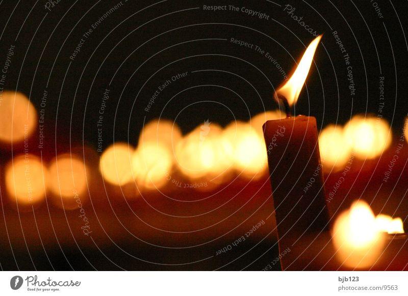 Kerzen Licht obskur Religion & Glaube Flamme