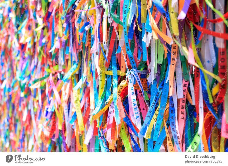 Bonfim Ferien & Urlaub & Reisen Sightseeing Sommerurlaub Kunst blau mehrfarbig gelb grün violett orange rosa rot schwarz weiß Schnur Brasilien bonfim Glücksband
