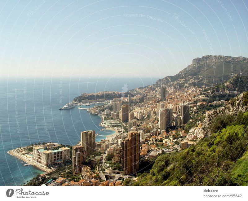 Monaco Wasser schön Sonne Meer blau Stadt Sommer Ferien & Urlaub & Reisen Haus Ferne Architektur Wohnung Hochhaus Europa Aussicht Italien