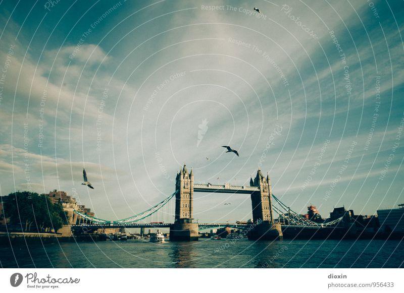 Give My Love To London Ferien & Urlaub & Reisen Tourismus Sightseeing Städtereise Himmel Wolken Fluss Themse England Großbritannien Stadt Hauptstadt