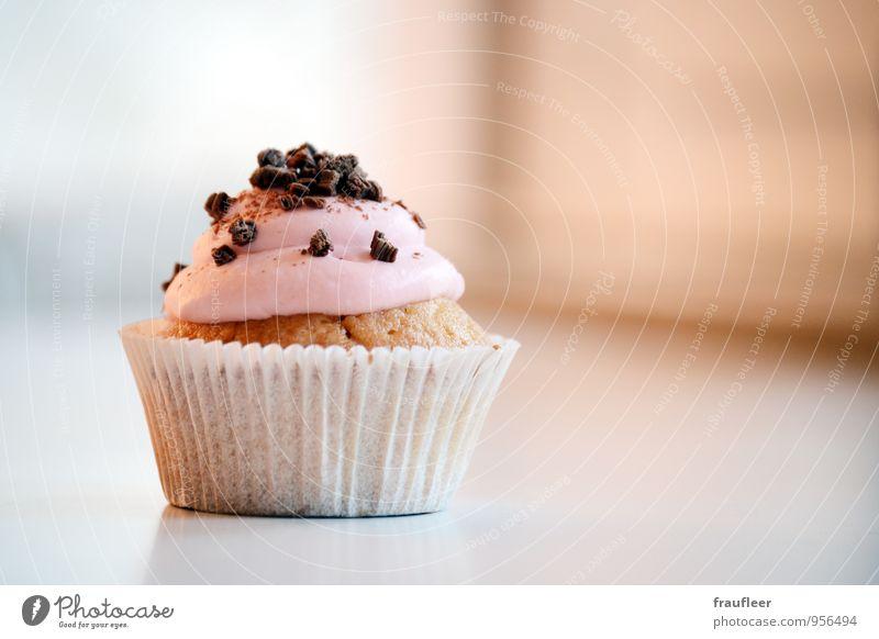 Cupcake, Muffin, Kuchen, rosa Lebensmittel Ernährung Essen Kaffeetrinken Geburtstag Appetit & Hunger Farbfoto Innenaufnahme Tag Starke Tiefenschärfe